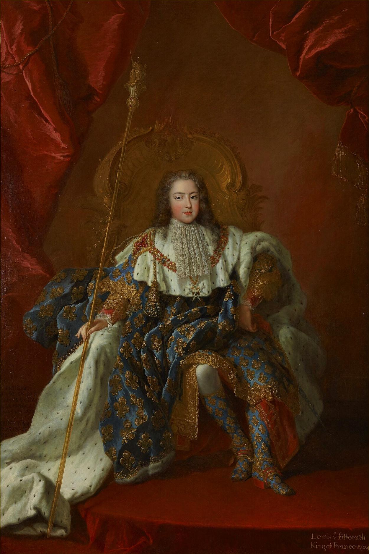 Louis XV, roi de France, âgé de 13 ans, en costume de sacre, en 1723, par Belle
