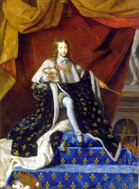 Louis XIV, roi de France, à l'âge de dix ans, en 1648, par Testelin
