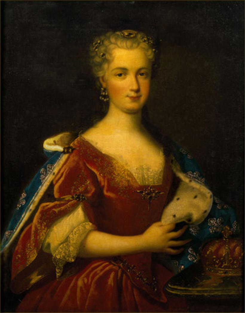Marie Leczinska, reine de France, au moment de son mariage, peut-être d'après un portrait antérieur de Johann Starbus