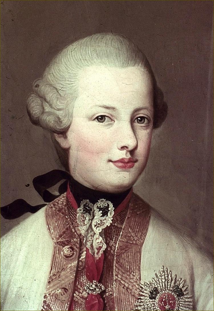 Ferdinand, archiduc d'Autriche-Modène, adolescent, détail, par Meytens