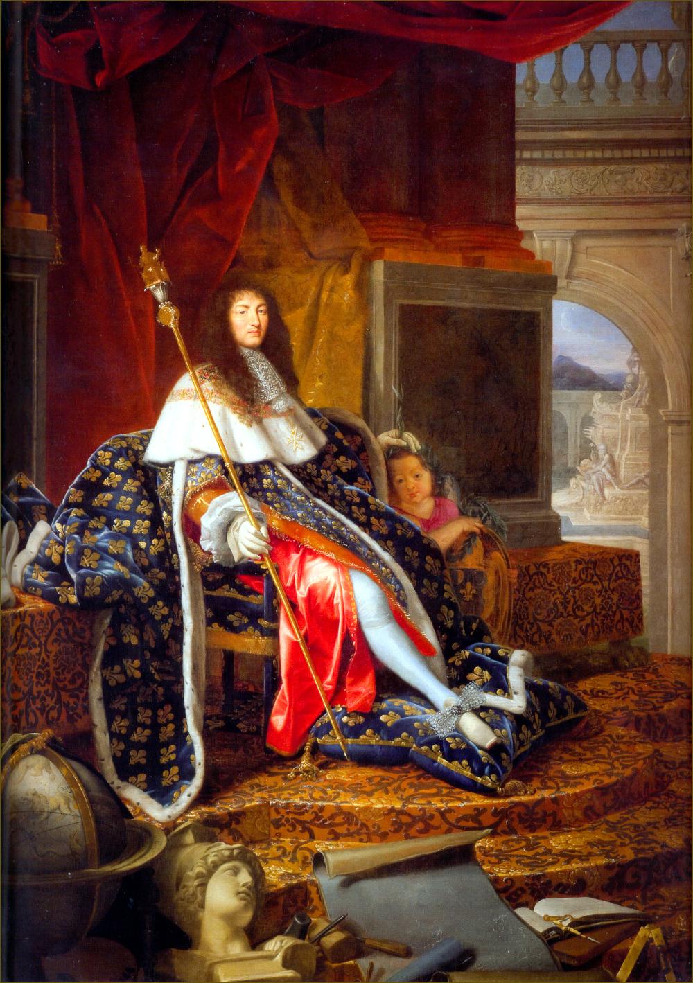 Louis XIV, roi de France, protecteur des arts, par Testelin