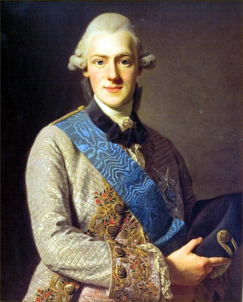 Frédéric-Adolphe de Suède, duc d'Ostrogothie, en 1771, par Roslin