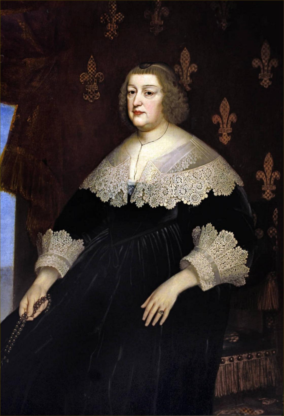 Marie de Médicis, reine de France et de Navarre, en 1638, atelier de Honthorst