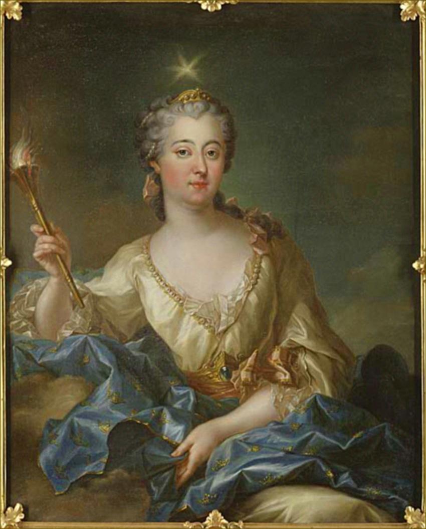 Louise-Ulrique de Prusse, reine de Suède, en Aurore, par François-Adrien de Latinville