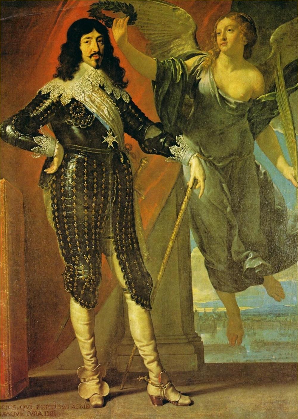 Louis XIII, roi de France et de Navarre, couronné par la Victoire, par Philippe de Champaigne