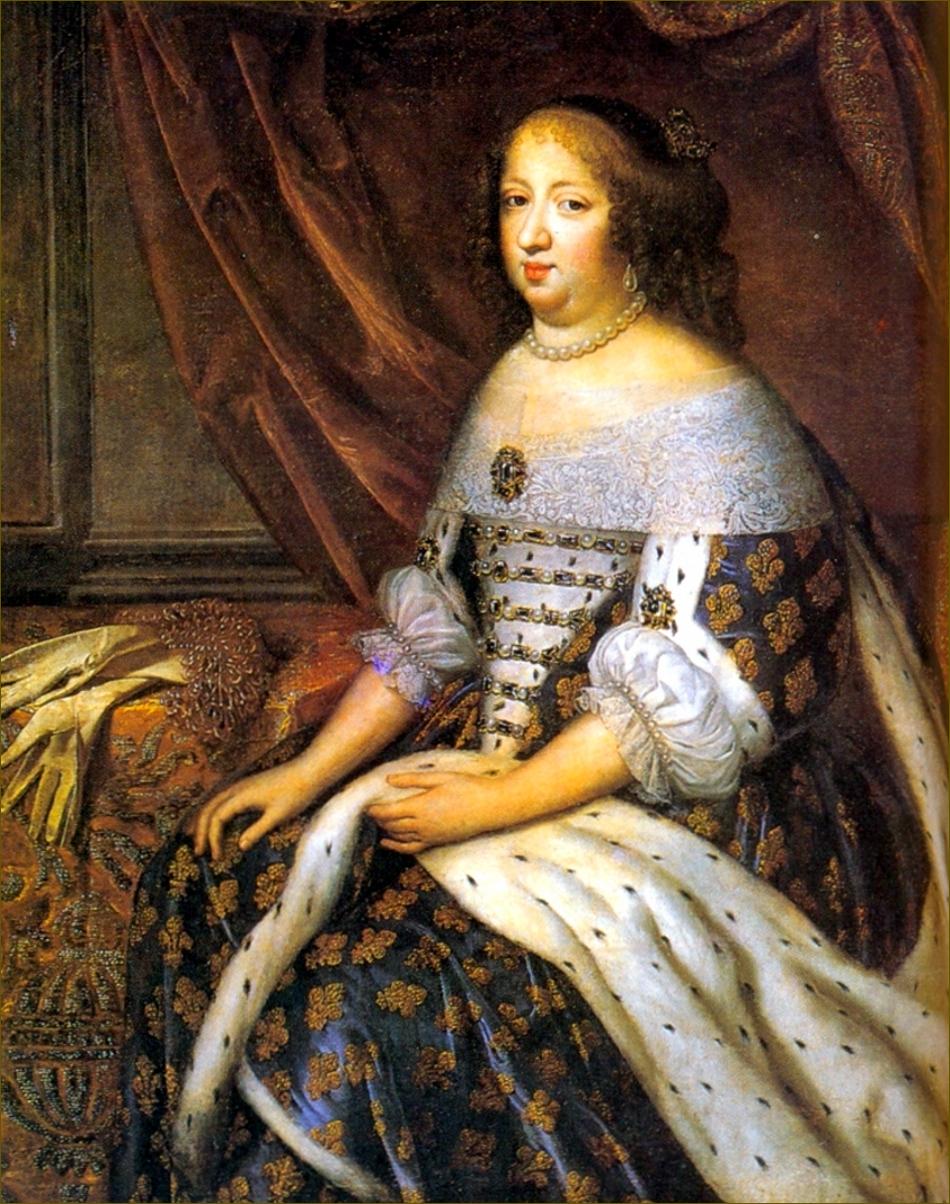 Anne d'Autriche, infante d'Espagne, reine de France, en costume royal, vers 1650, par Beaubrun