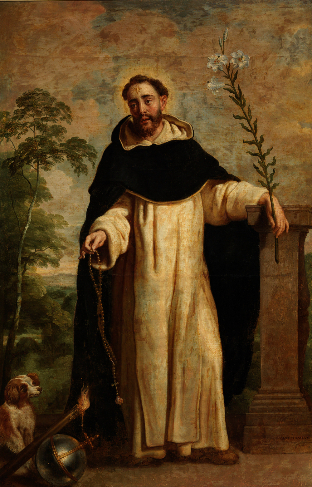 Saint Dominique de Guzman, par Gaspard de Crayer (1655)