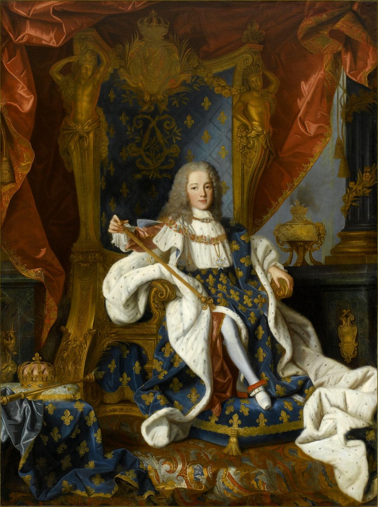 Louis XV, roi de France, âgé de 8 ans, en costume royal, en 1718, par Jean Ranc