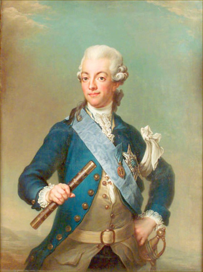 Gustave III, roi de Suède, par Pasch