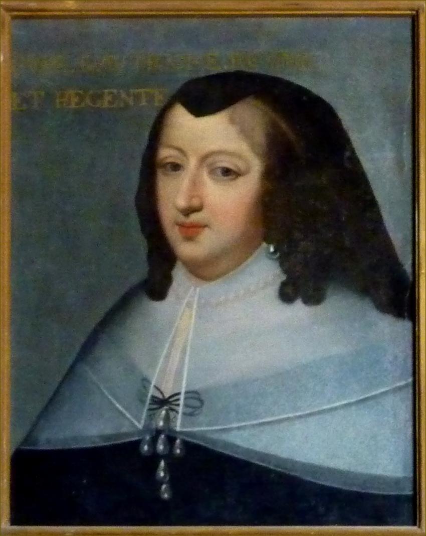 Anne d'Autriche, infante d'Espagne, reine de France, en deuil ordinaire, vers 1645