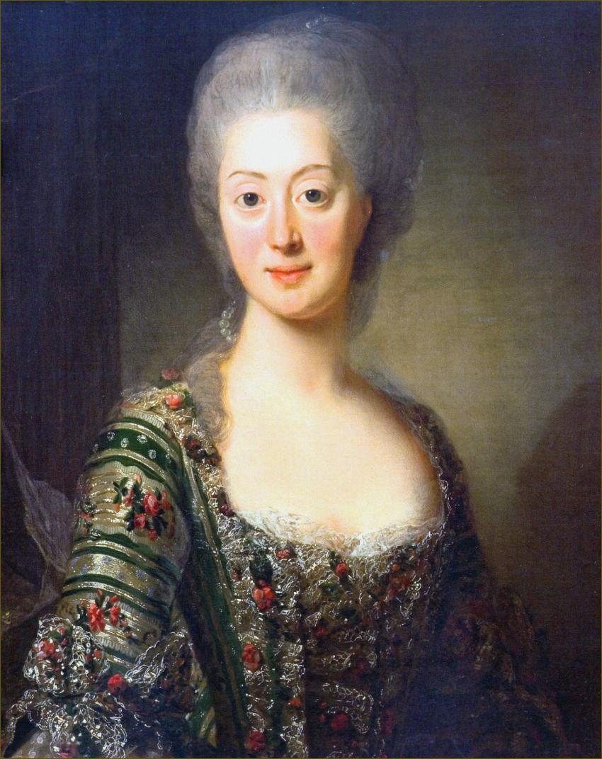 Sophie-Madeleine de Danemark, reine de Suède, en 1774, par Roslin