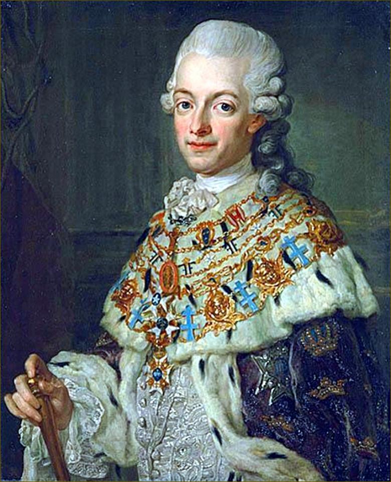 Gustave III, roi de Suède, d'après Pasch