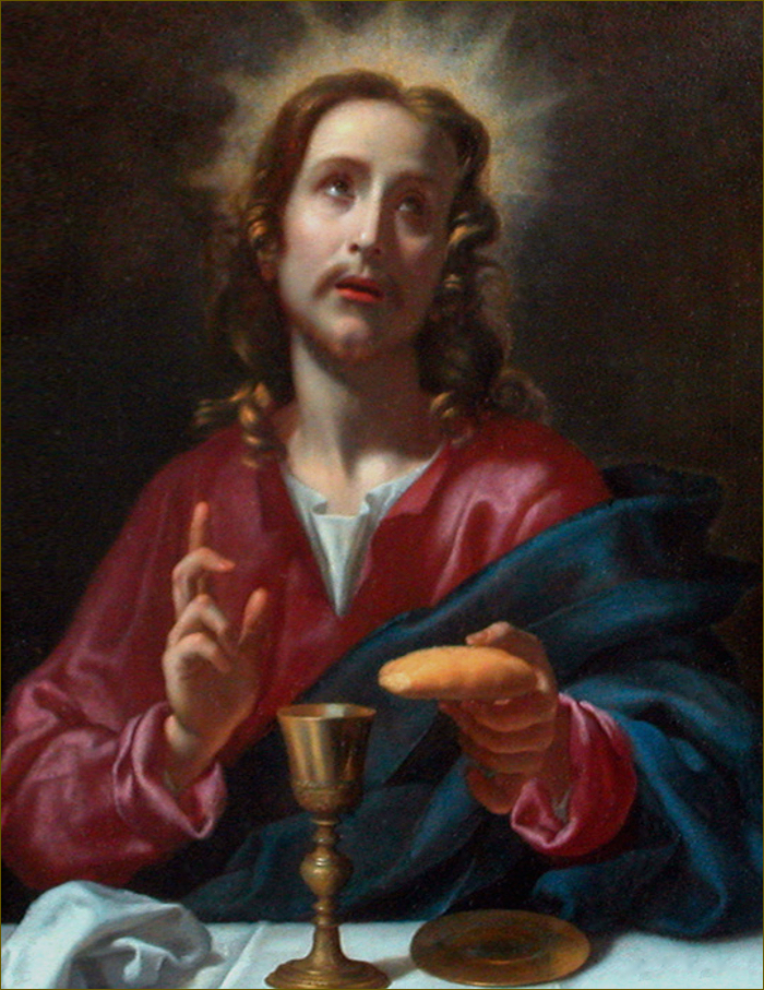 L'Institution de l'Eucharistie, par Carlo Dolci (v.1650)