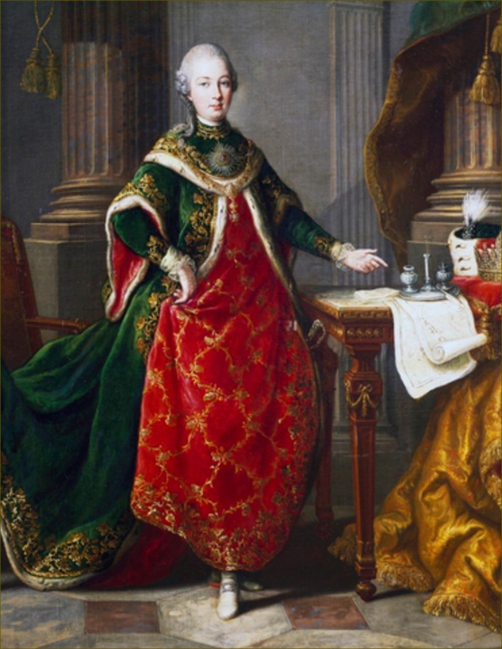 Ferdinand, archiduc d'Autriche-Modène, en grand habit de l'Ordre de Saint-Etienne, par Anton von Maron