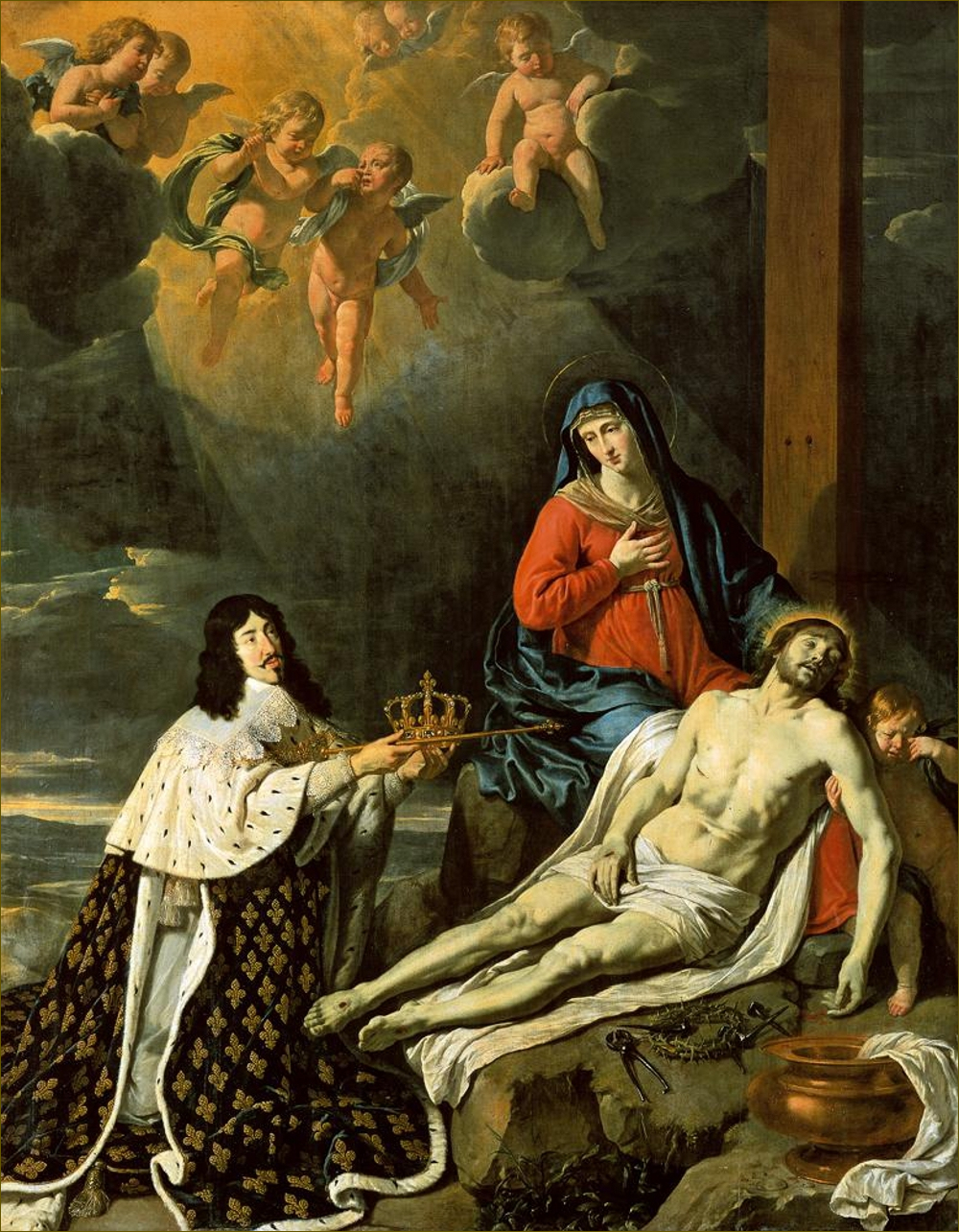 Louis XIII, roi de France, consacrant son royaume à la Sainte Vierge, par Philippe de Champaigne
