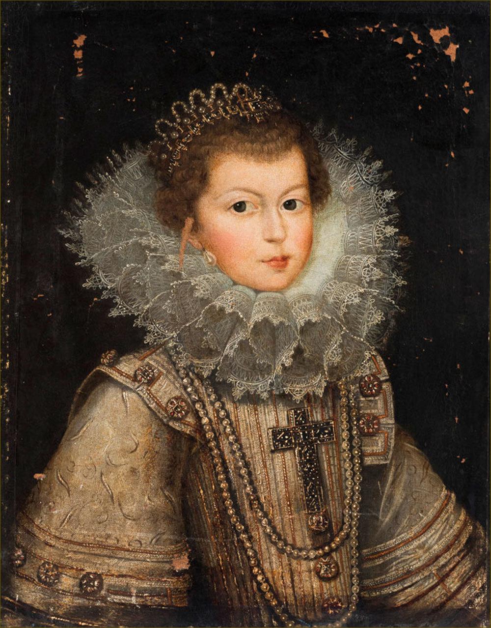 Anne d'Autriche, infante d'Espagne, reine de France, d'après Bartholomé Gonzalès
