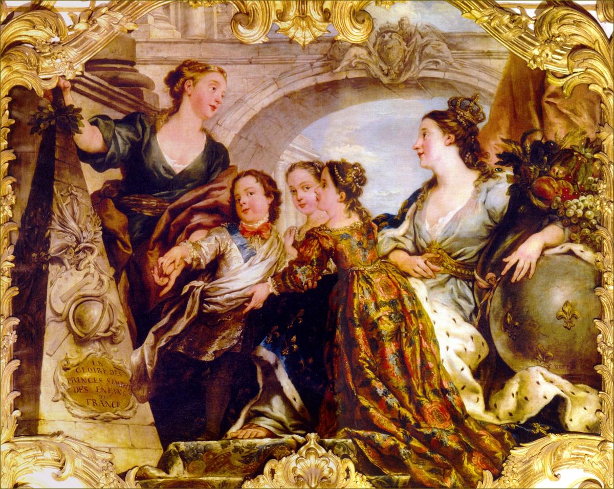 La Gloire des Princes s'empare des Enfants de France, par De Troy