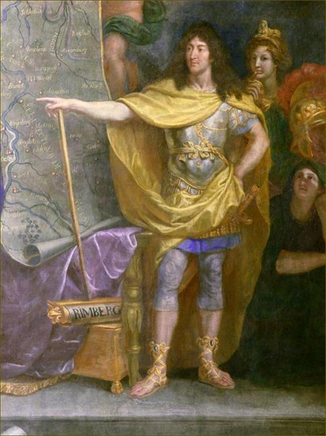 Louis XIV, roi de France, donnant l'ordre d'attaquer en même temps les quatre plus fortes places de la Hollande, par Le Brun
