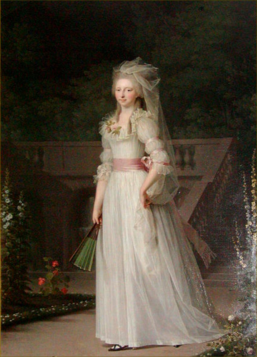 Louise-Augusta de Danemark, duchesse de Schleswig-Holstein-Sonderbourg, en 1785, par Jens Juel