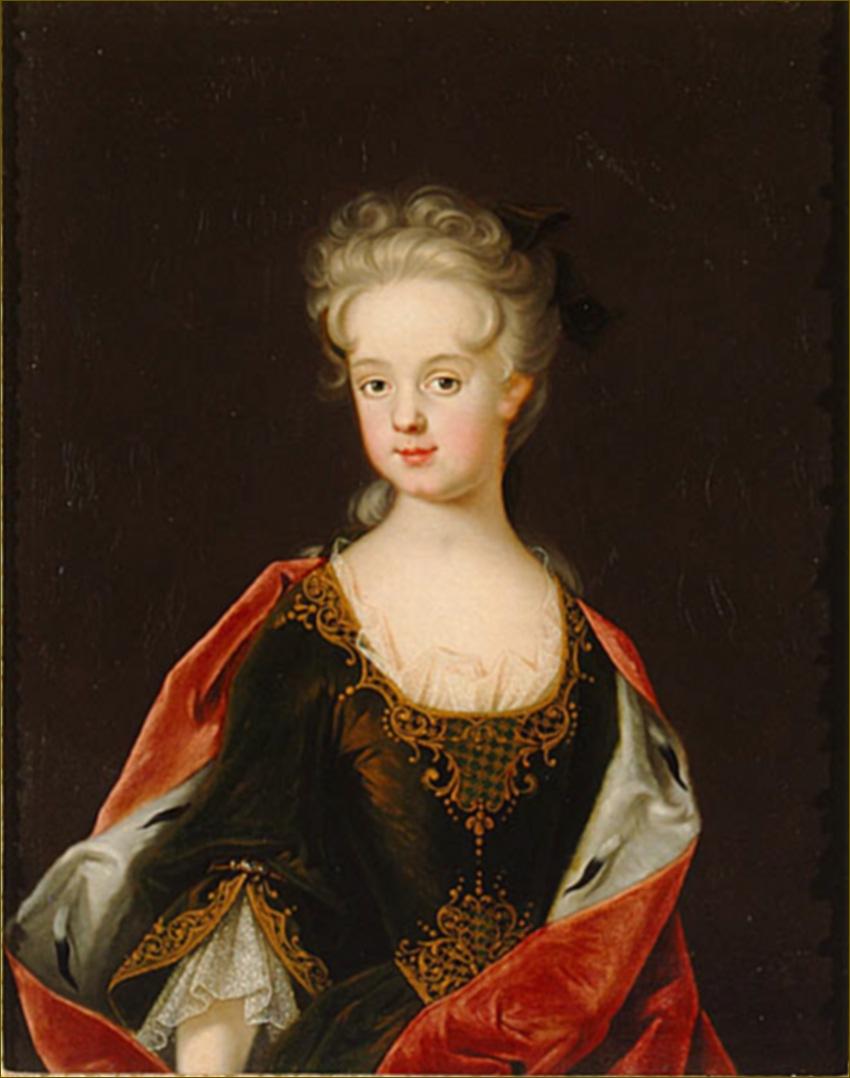 Marie Leczinska, reine de France, à 9 ans, en 1712, d'après Starbus