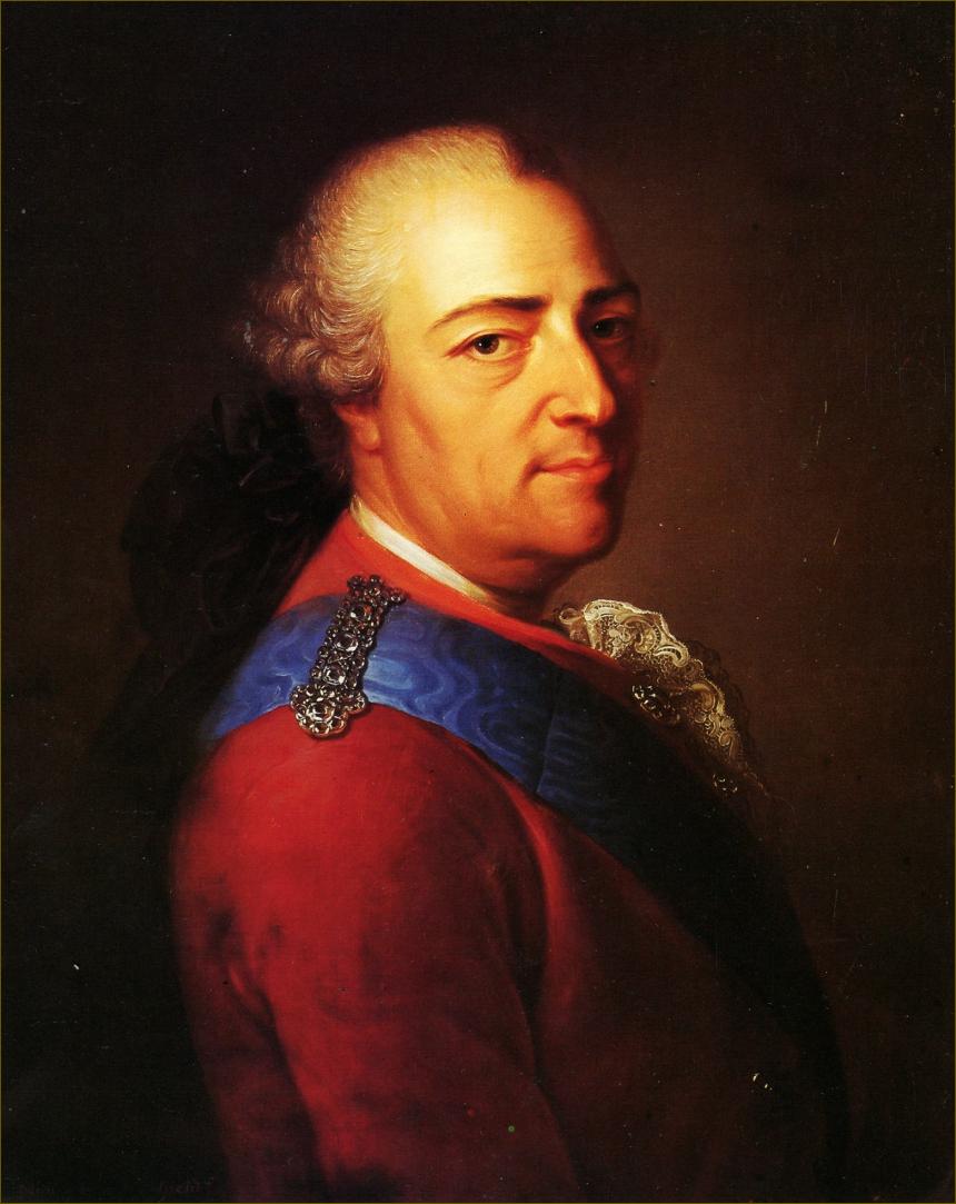Louis XV, roi de France, âgé de 64 ans, deux mois avant sa mort, en mars 1774, par Montpetit