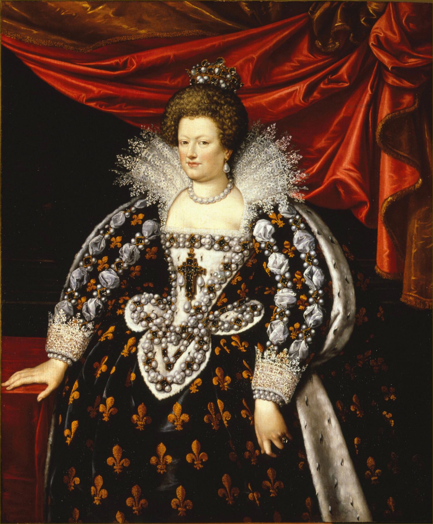 Marie de Médicis, reine de France et de Navarre, en grand costume royal, par Henner d'après Pourbus