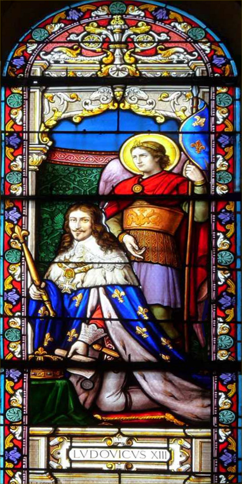 Louis XIII, roi de France, avec Saint Michel Archange, co-patron de la France
