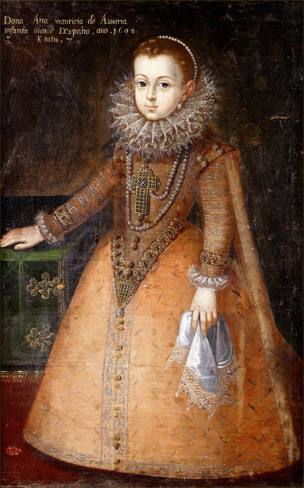 Anne d'Autriche, infante d'Espagne, reine de France, âgée de sept ans, en 1608, d'après Pantoja de la Cruz