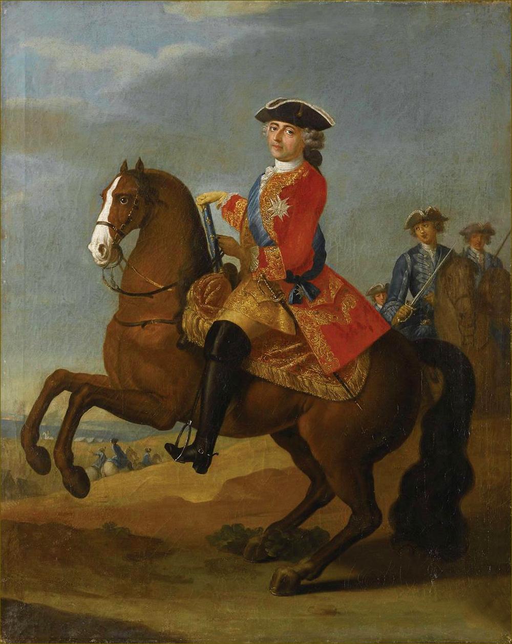 Louis XV, roi de France, âgé de 53 ans, en 1763, par Mulnier