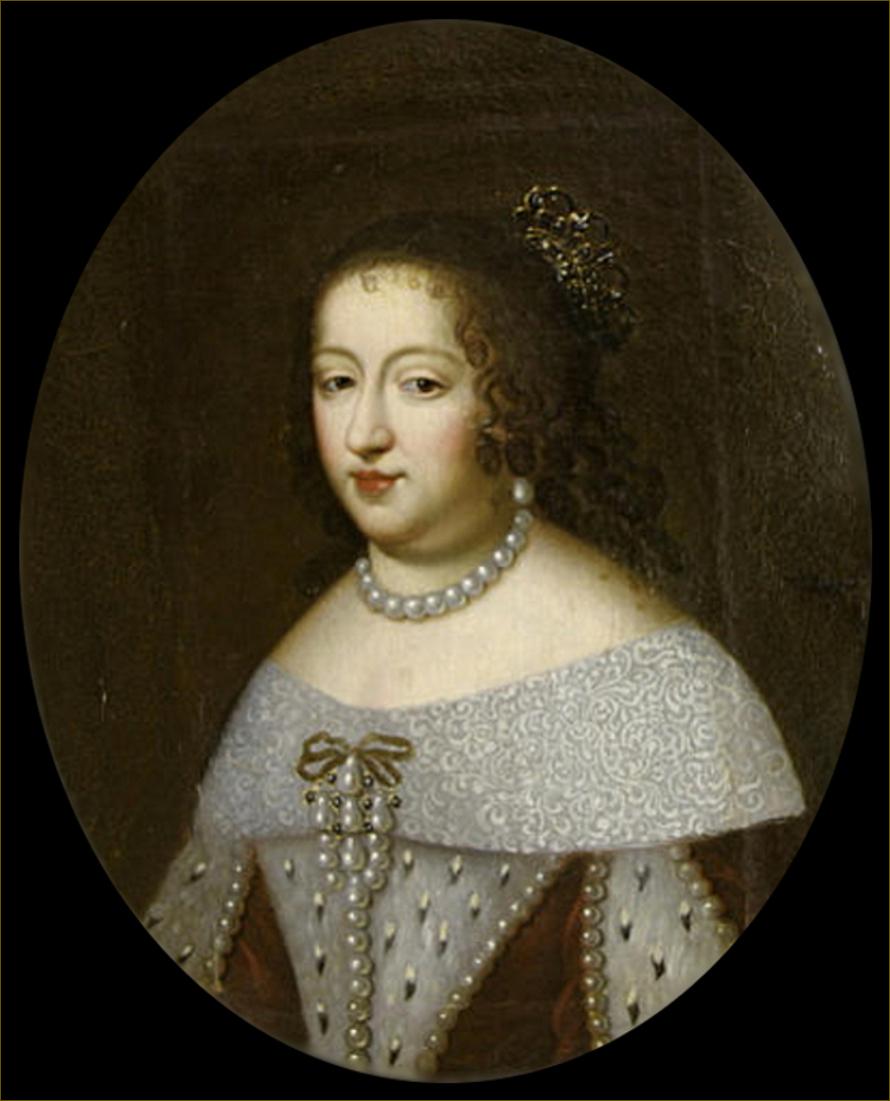 Anne d'Autriche, infante d'Espagne, reine de France, atelier de Beaubrun