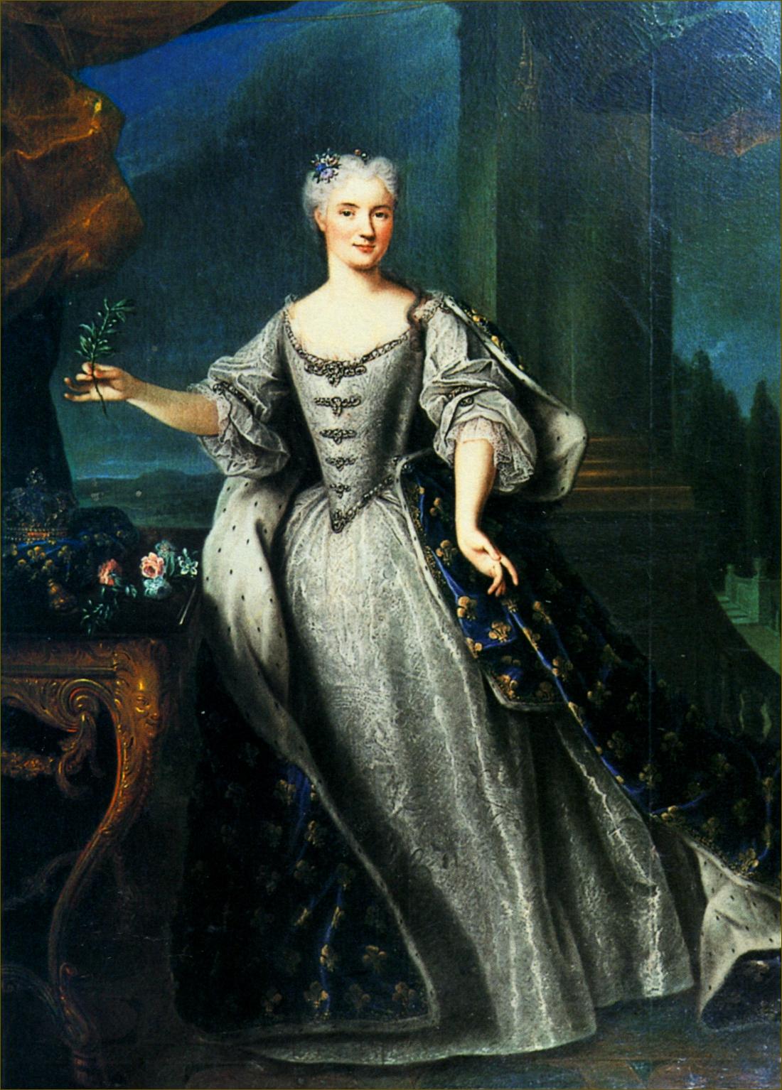 Marie Leczinska, reine de France, à 23 ans, en 1726, par Gobert