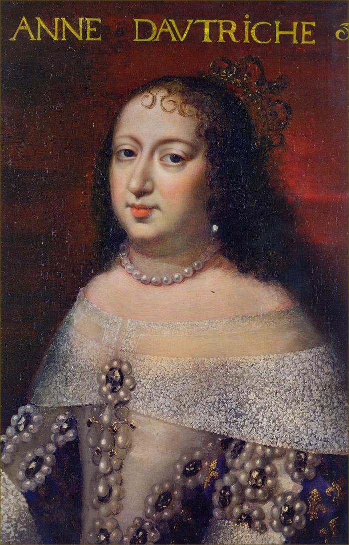 Anne d'Autriche, infante d'Espagne, reine de France, vers 1650, école française