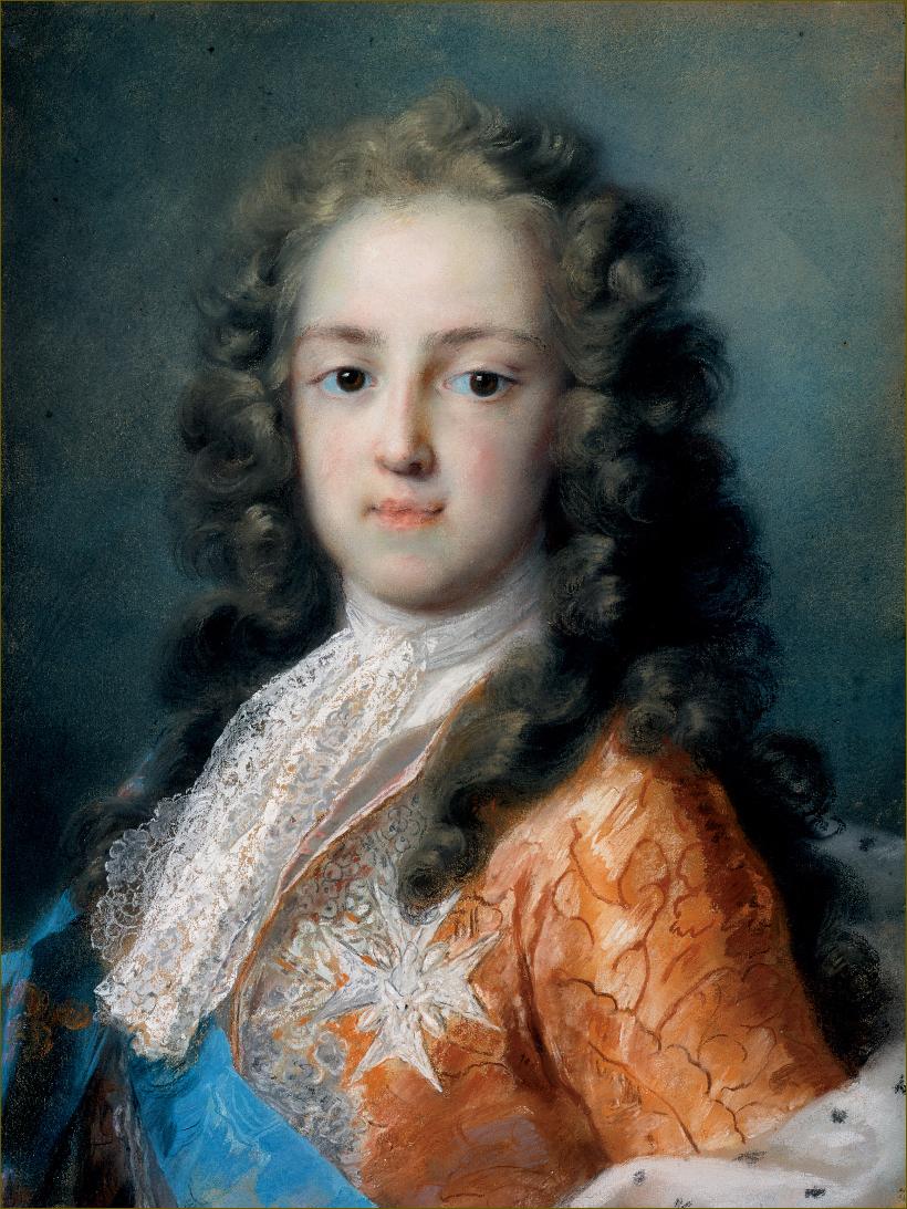 Louis XV, roi de France, âgé de 10 ans, en 1720, esquisse, par Rosalba Carriera