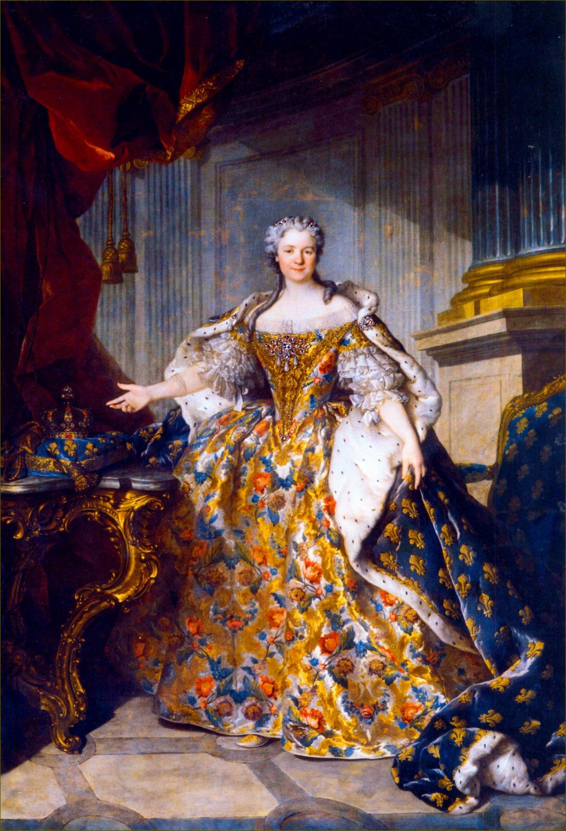 Marie Leczinska, reine de France, à 37 ans, en 1740, par Tocqué