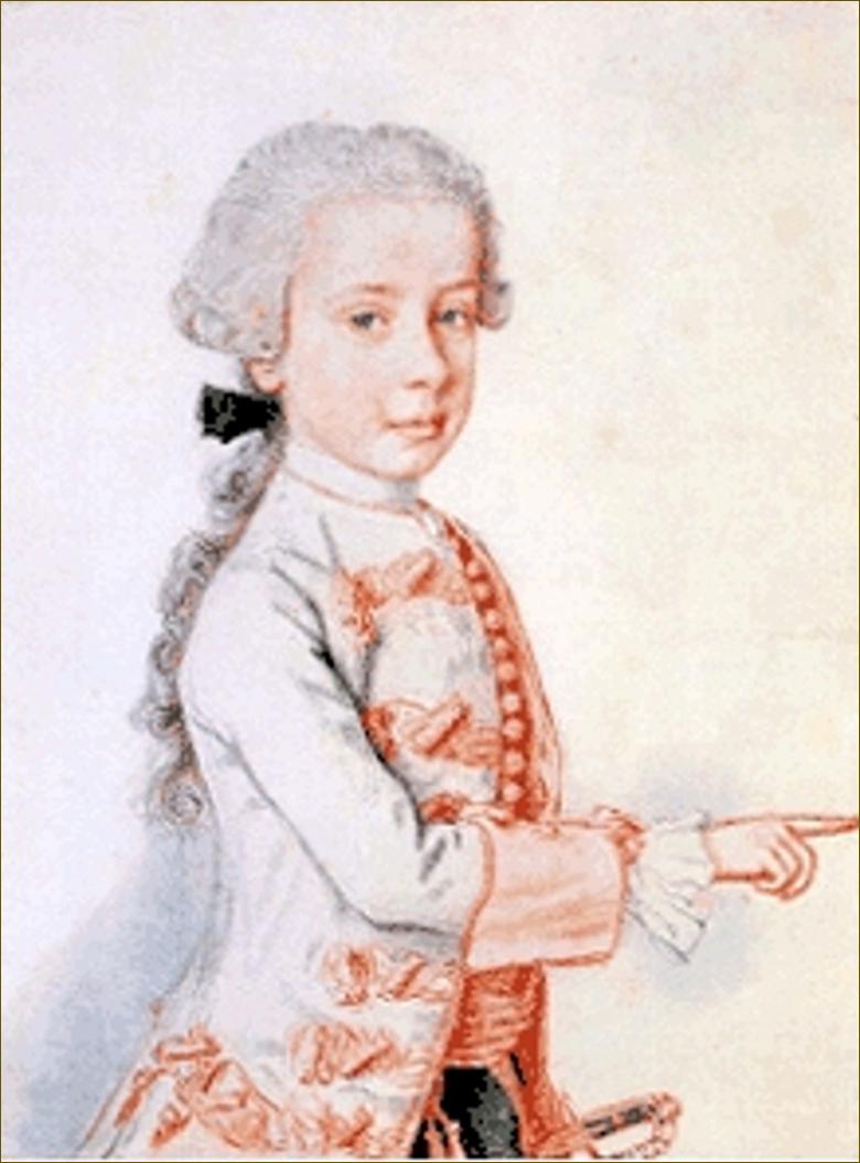 Ferdinand, archiduc d'Autriche-Modène, enfant, par Liotard