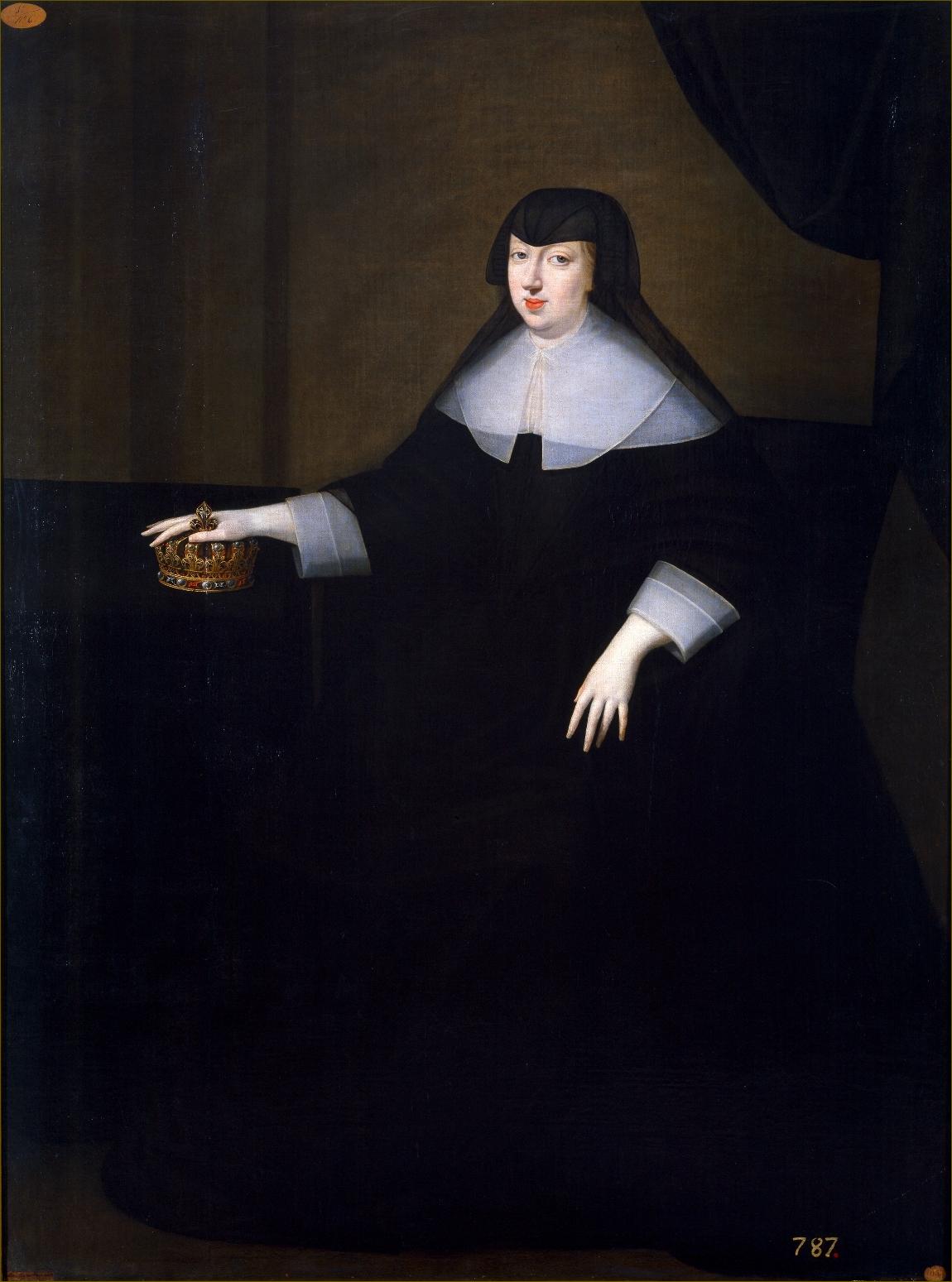 Anne d'Autriche, infante d'Espagne, reine de France, en grand deuil de veuve
