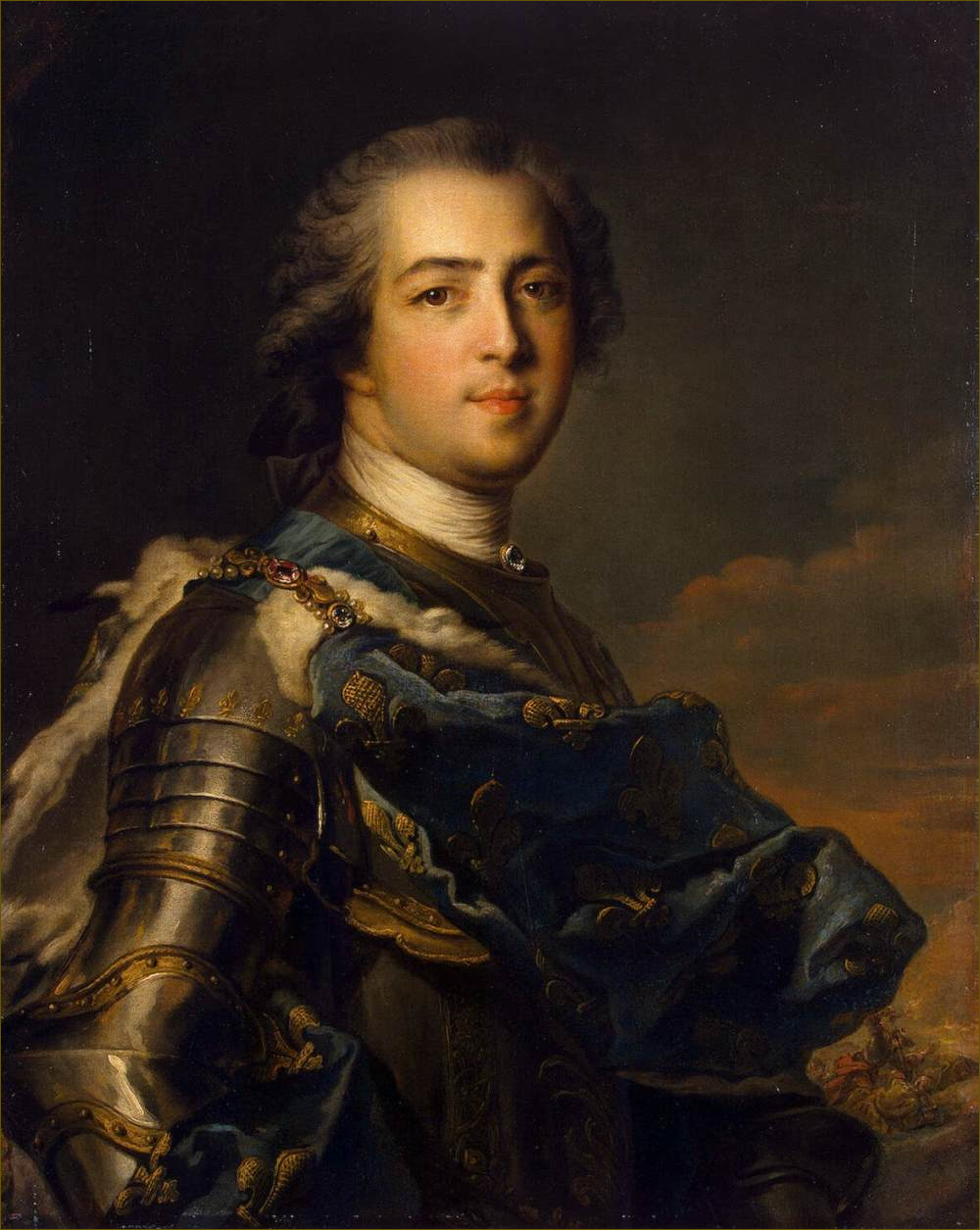 Louis XV, roi de France, âgé de 35 ans, en 1745, par Nattier