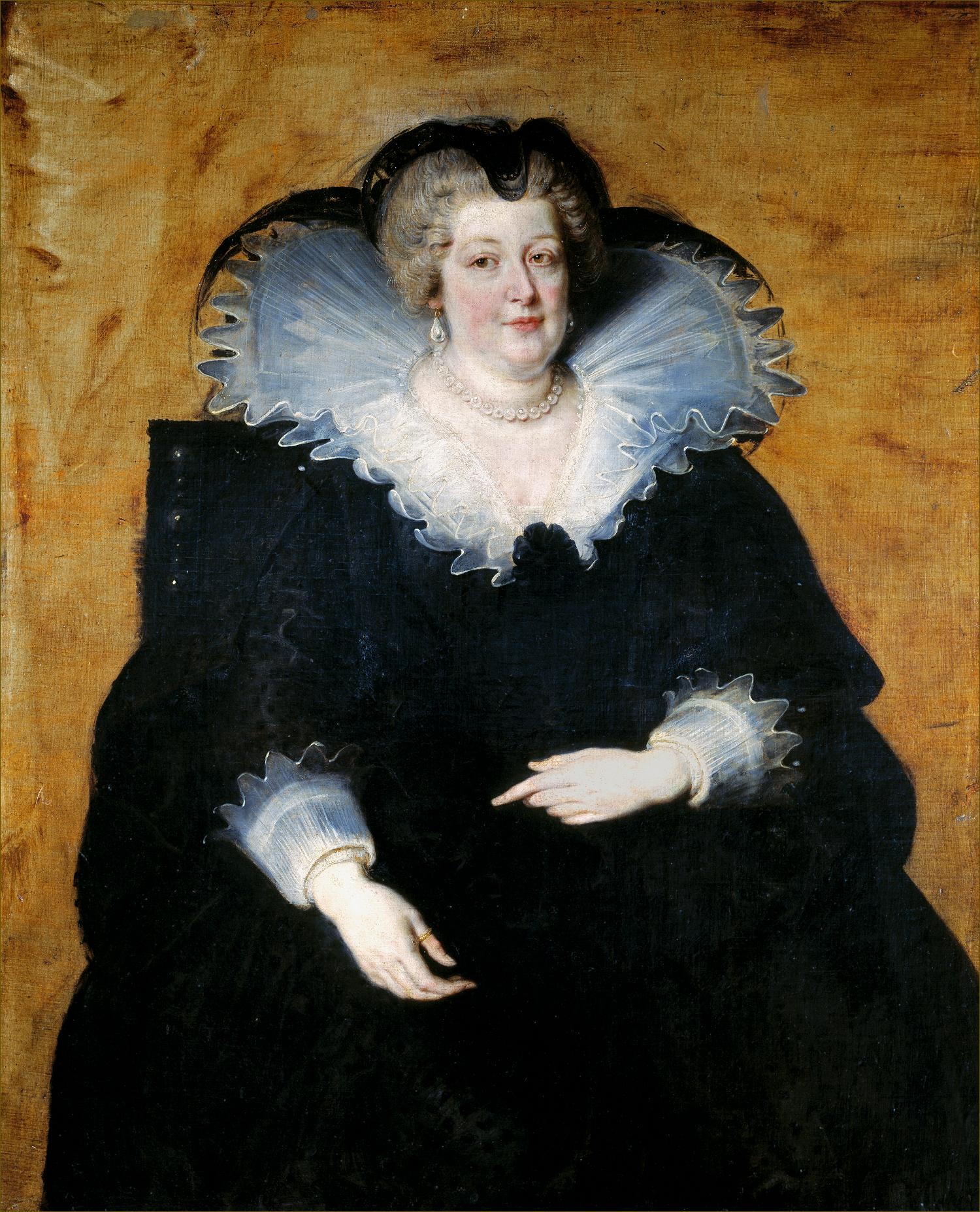 Marie de Médicis, reine de France et de Navarre, en veuve, en 1622, par Rubens