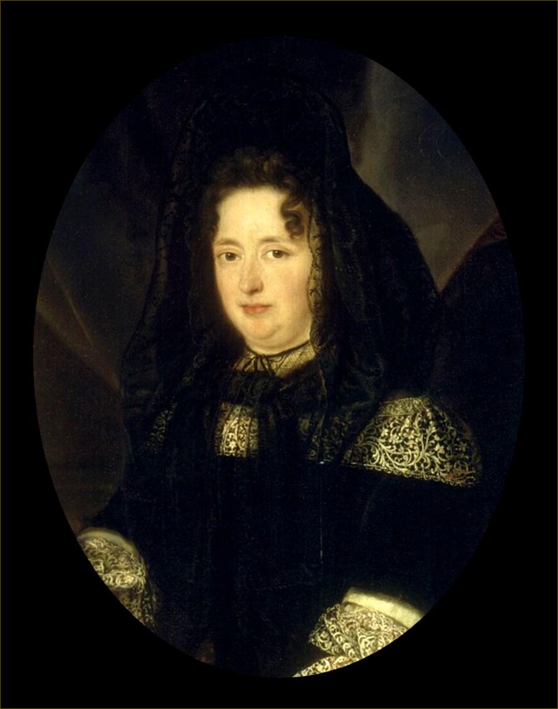 Françoise d'Aubigné, marquise de Maintenon, épouse secrète de Louis XIV, roi de France, d'après Elle