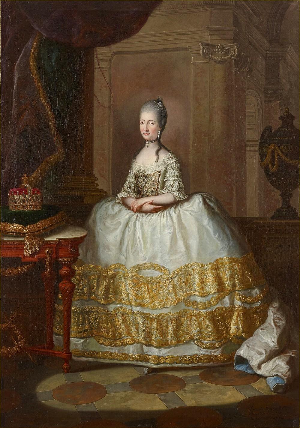 Marie-Béatrice d'Este, archiduchesse d'Autriche-Modène, par Anton von Maron