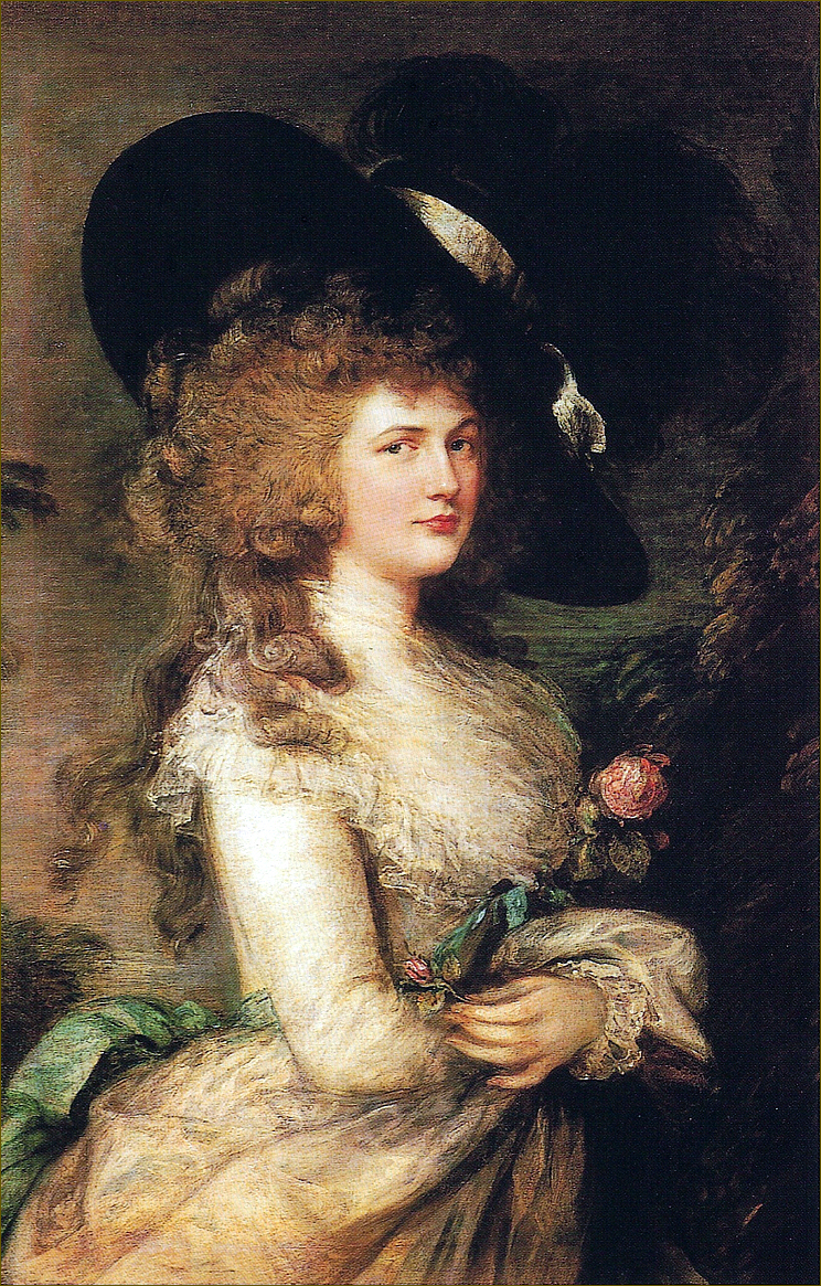 Lady Georgiana Cavendish, duchesse de Devonshire, née Spencer, par Gainsborough (1787)