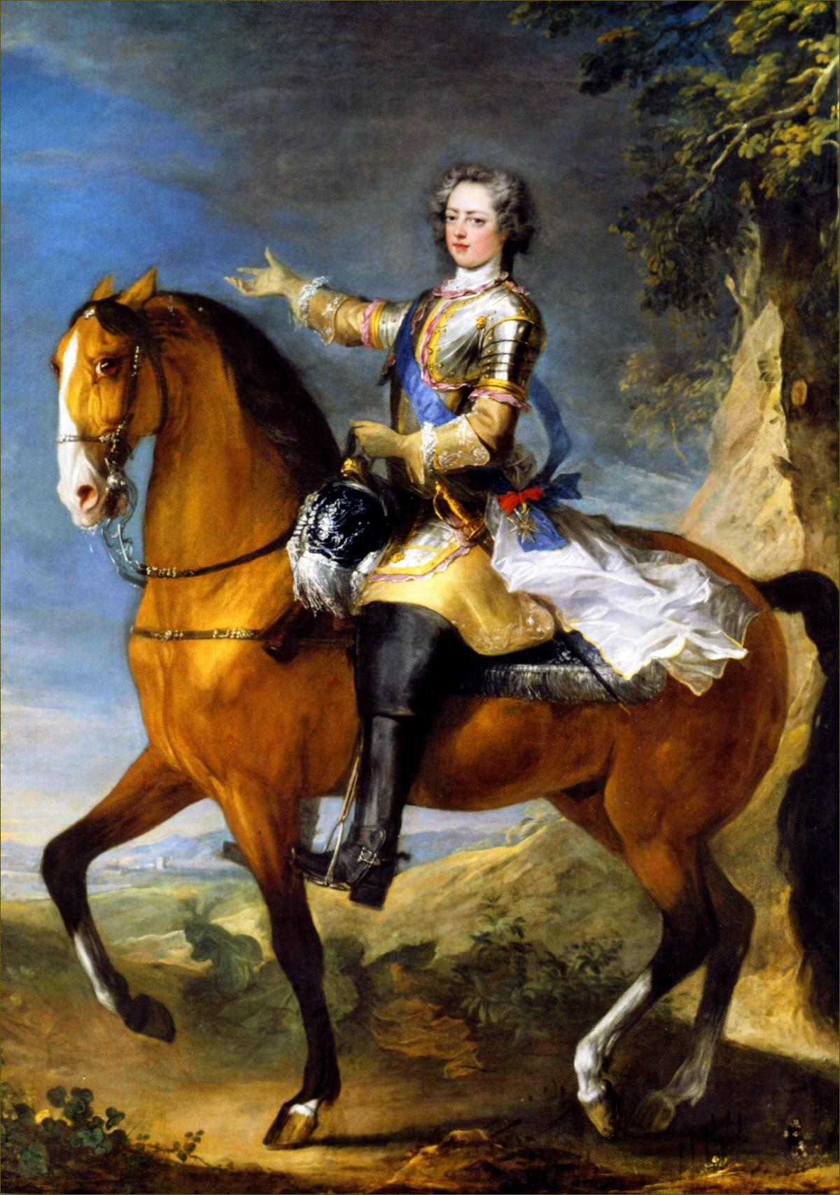 Louis XV, roi de France, âgé de 23 ans, en 1733, par Parrocel