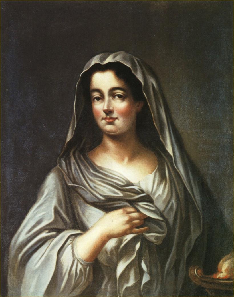 Marie Leczinska, reine de France, en vestale, peinte par son père Stanislas Leczinski, roi de Pologne