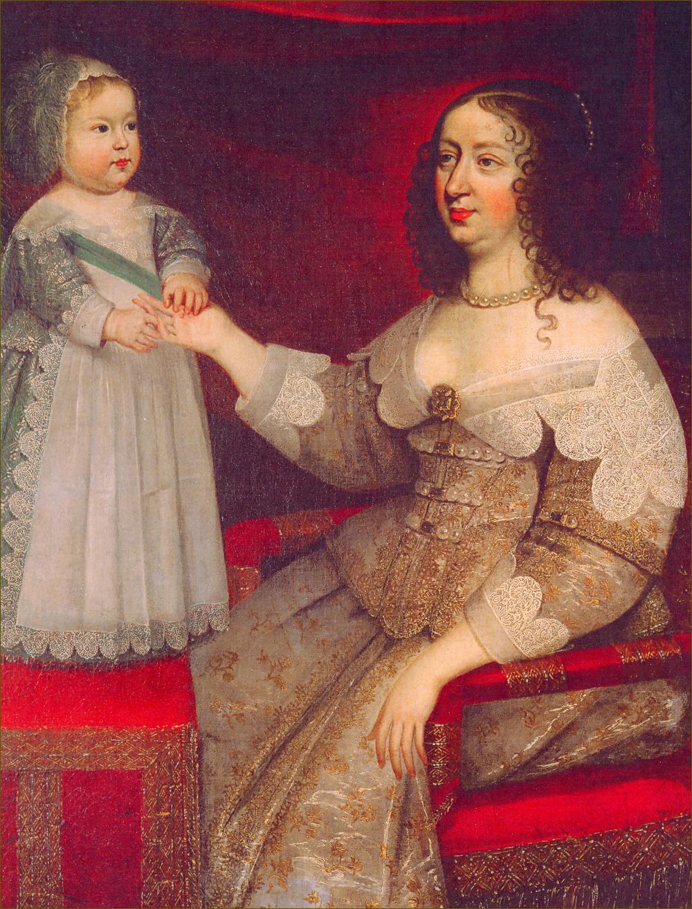 Louis XIV, roi de France, avec sa mère Anne d'Autriche, reine de France