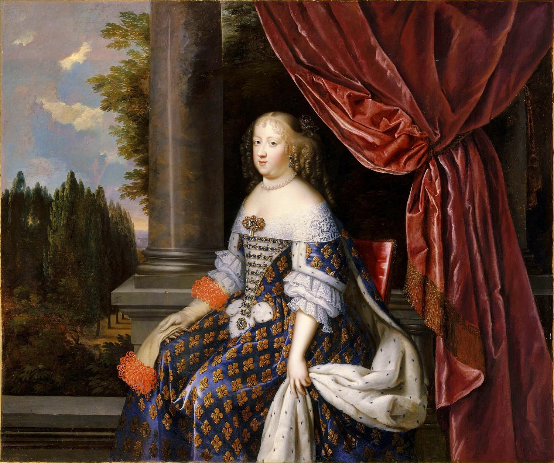 Marie-Thérèse d'Autriche, infante d'Espagne, reine de France, par Nocret