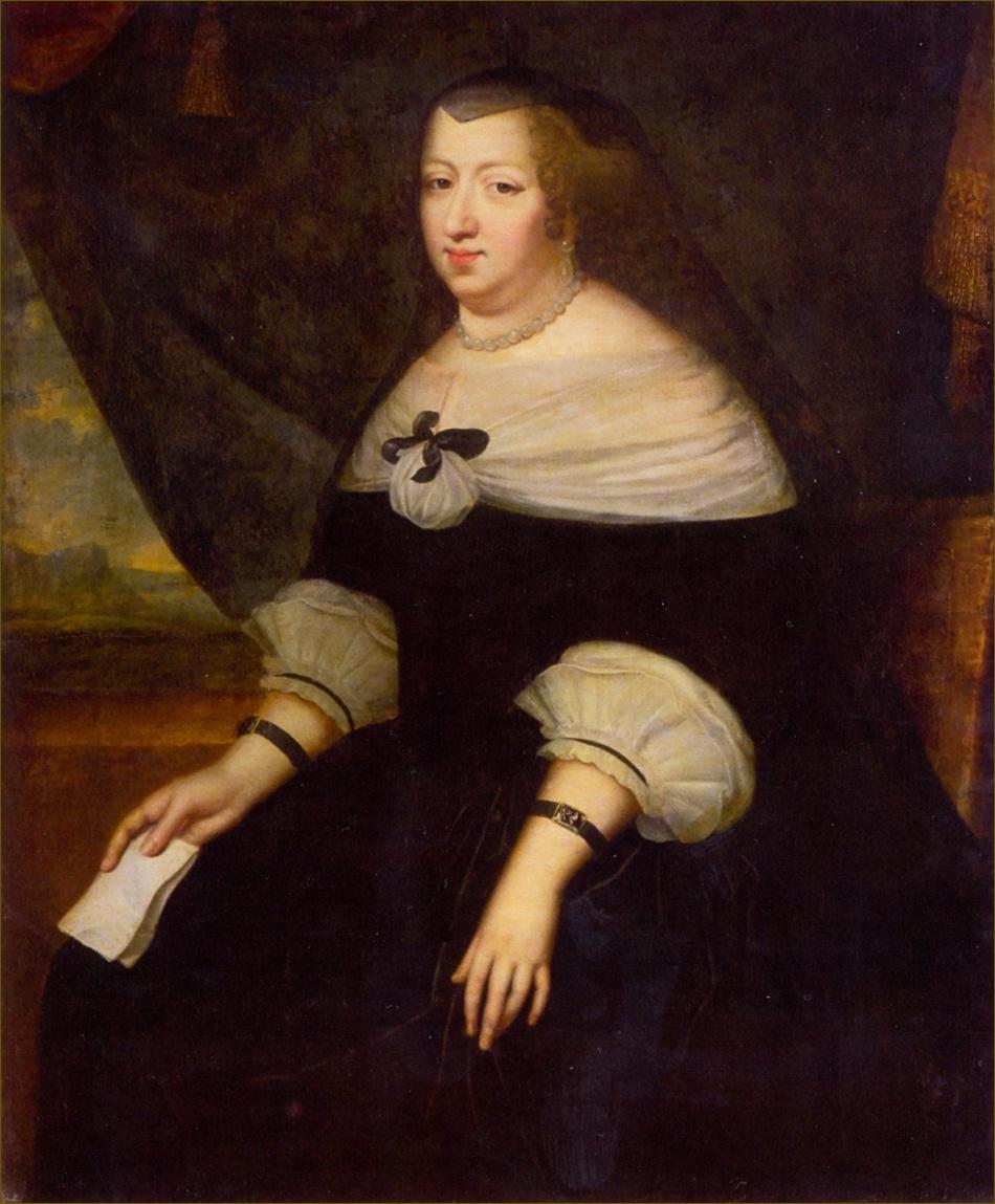 Anne d'Autriche, infante d'Espagne, reine de France, en deuil ordinaire, vers 1645, par Beaubrun
