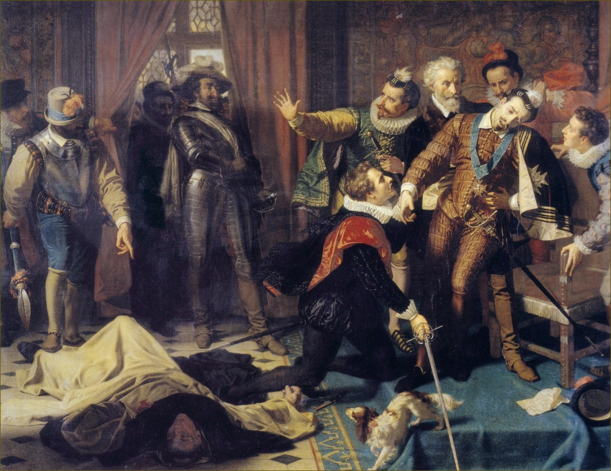 Assassinat de Henri&nbsp;III, roi de France et de Pologne, à Saint-Cloud, le 1<sup>er</sup> août 1589, par Hugues Merle