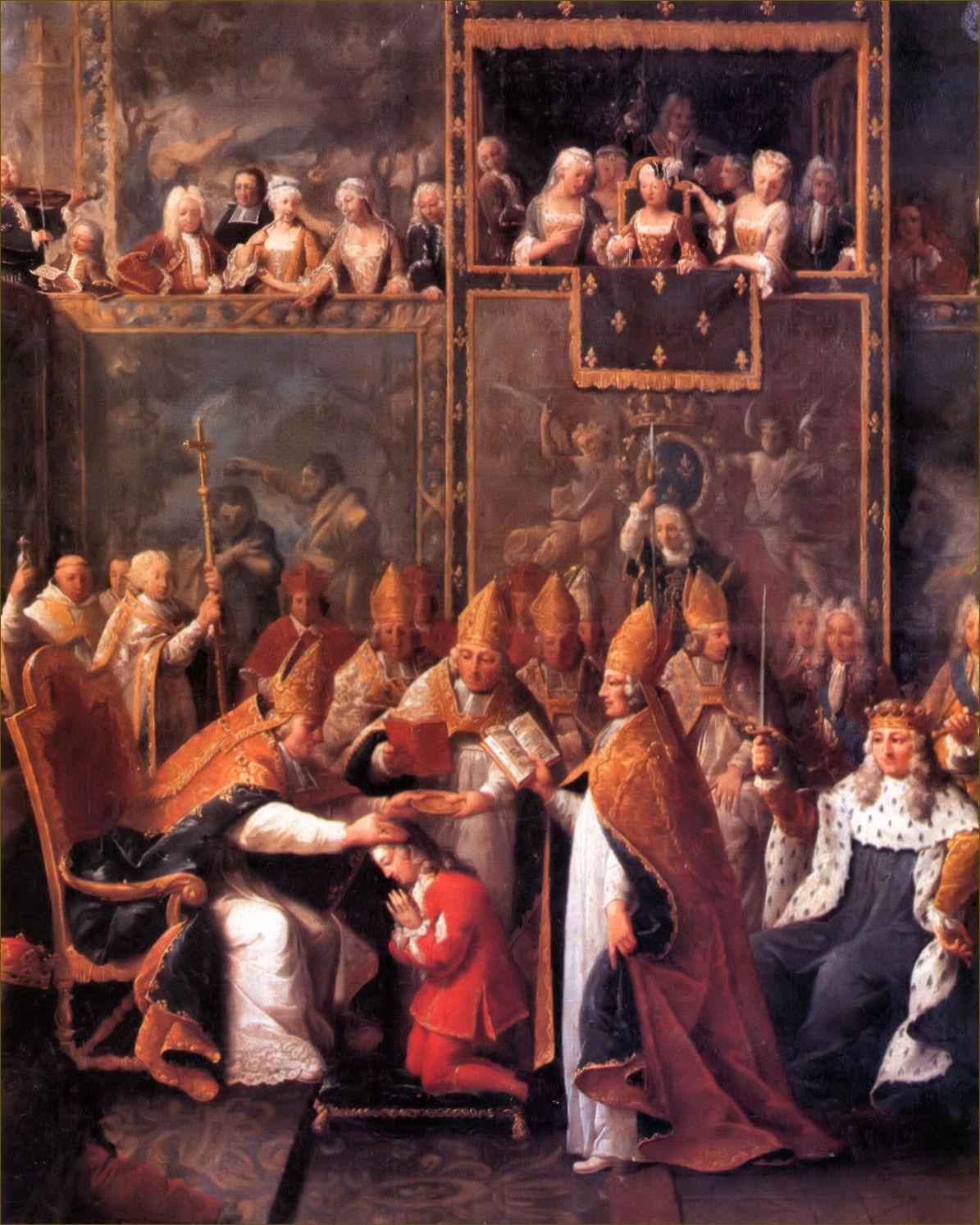 Sacre de Louis XV, roi de France, à Reims, le 25 octobre 1722, par Subleyras