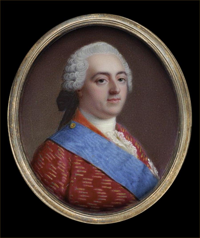 Louis XV, roi de France, miniature attribuée à Rouquet