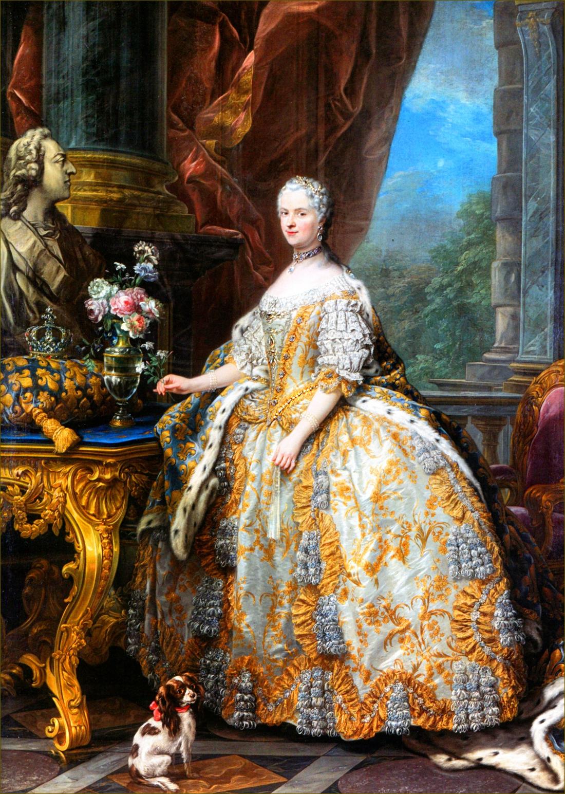 Marie Leczinska, reine de France, à 44 ans, en 1747, par Carle Van Loo